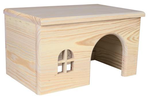 drewniany domek dla szynszyli