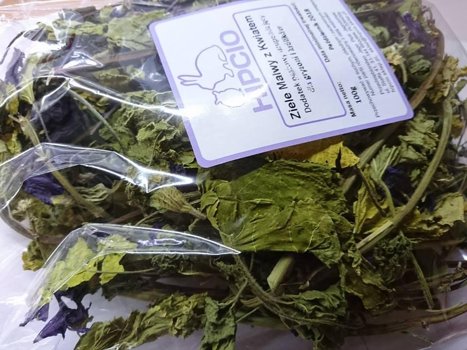 Hipcio zielemalwy z kwiatem etykieta